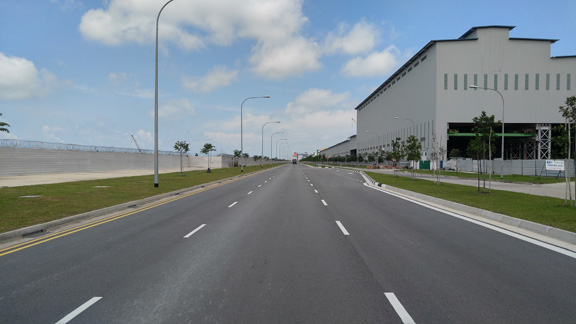 Tuas South Boulevard Completed Road And Drain